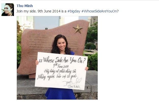 Thu Minh chia sẻ trên trang cá nhân để kêu gọi mọi người ủng hộ chongày ra mắt của United for Wildlife - Tin sao Viet - Tin tuc sao Viet - Scandal sao Viet - Tin tuc cua Sao - Tin cua Sao