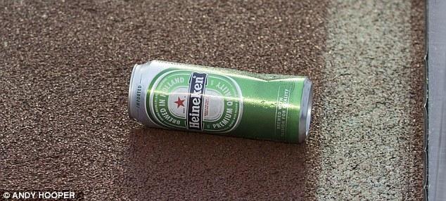 Lon bia cỡ lớn chắc chắn khiến Sturridge cảm thấy đau khi nó bị ném thẳng vào người anh