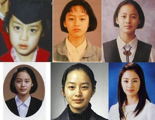 Kim Tae Hee vẫn giữ được nét đẹp nguyên bản từ nhỏ tới lớn