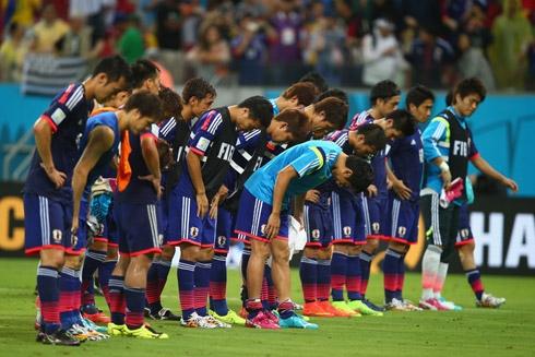 Đội tuyển Nhật gửi lời xin lỗi tới khán giả. Ảnh: AFP.