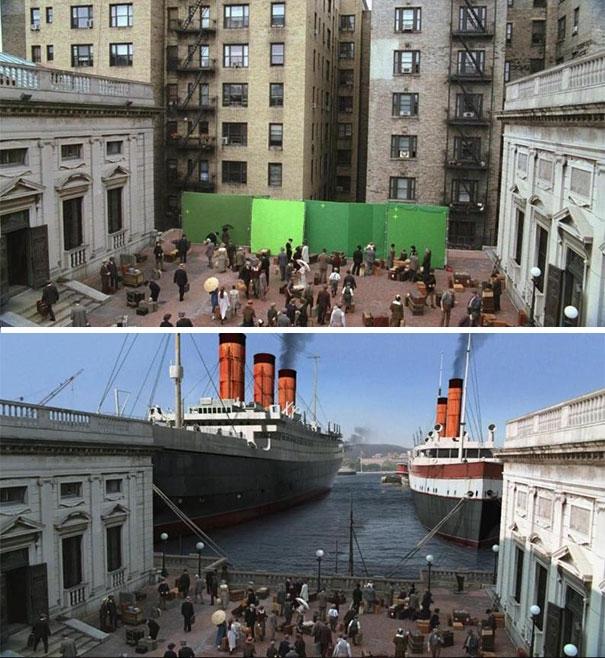 Cảng tàu khổng lồ trong phim là một tòa nhà lớn