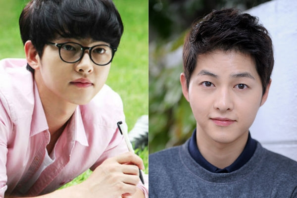 """Sở hữu một gương mặt cực kỳ baby nên dù Song Joong Ki để tóc nào thì các fan cũng không thấy nét đẹp của anh giảm đi. Tuy nhiên, với mái tóc ngắn thì trông Song Joong Ki có vẻ """"trưởng thành"""" và nam tính hơn với mái tóc rũ mái."""