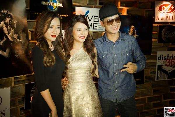 Ca sĩ Băng Di và Hà Okio cũng đến chúc mừng cho sản phẩm đầu tay của Tia Hải Châu.