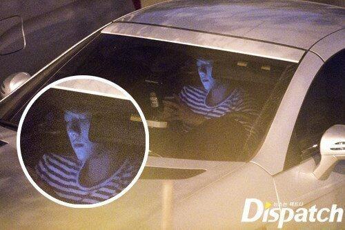 Một số ảnh hẹn hò của Taeyeon và Baekhyun bị Dispatch bắt gặp