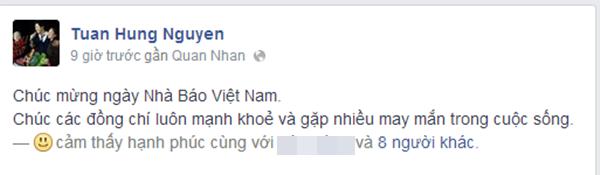 Nam ca sĩ Tuấn Hưng.