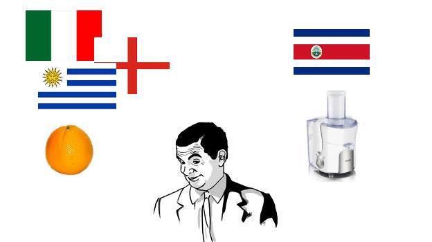 Costa Rica là máy vắt, còn Anh, Italy và Uruguay mới là những trái cam ở bảng D.