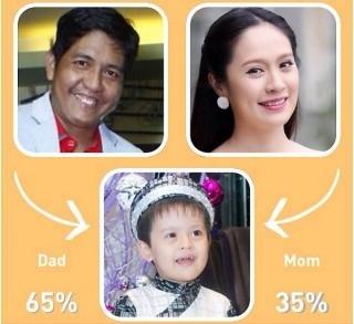 Bé Cà Phê thừa hưởng các nét của bố Đức Thịnh nhiều hơn với 65%. Bé chỉ cói 35% giống mẹ Thanh Thúy.
