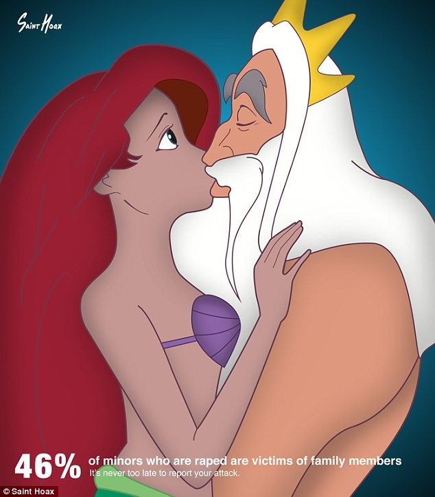Ngỡ ngàng các công chúa Disney hôn cha mình trong poster tuyên truyền