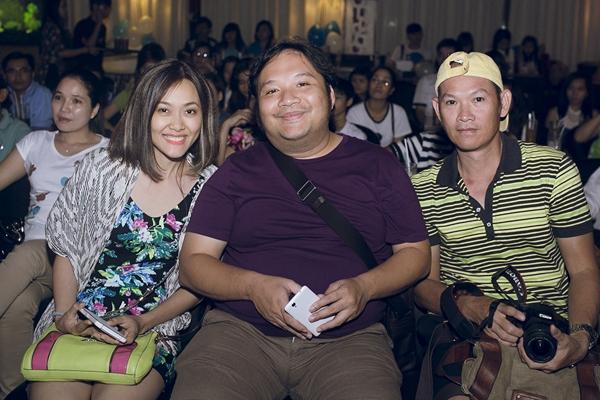 Vợ chồng nhạc sĩ Nguyễn Hà, Minh Trang cùng biên đạo múa Hữu Trị.