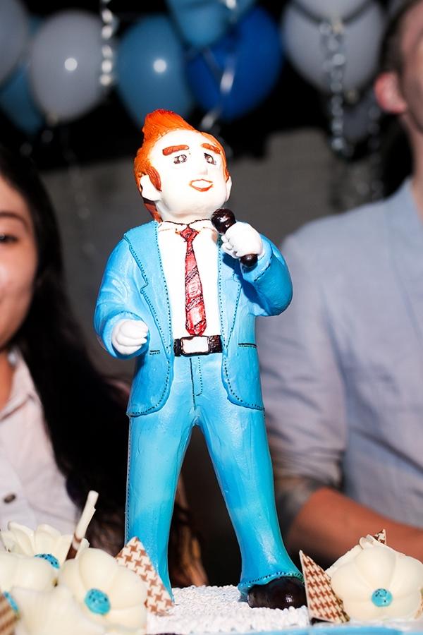 Chiếc bánh kem có hình Kyo do chính tay các bạn fan chuẩn bị dành tặng cho anh.