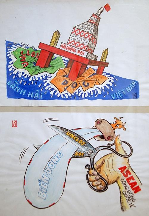 Triển lãm biếm họa về giàn khoan Hải Dương 981