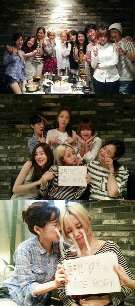 Hyomin khoe hình cùng đại gia đình Invicible Youth