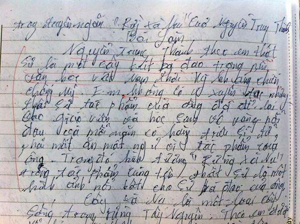 """Bài văn """"bá đạo"""" của học sinh lớp 12"""