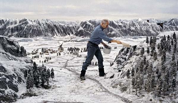 Khung cảnh mùa đông băng giá hoành tráng này cũng chỉ là... mô hình