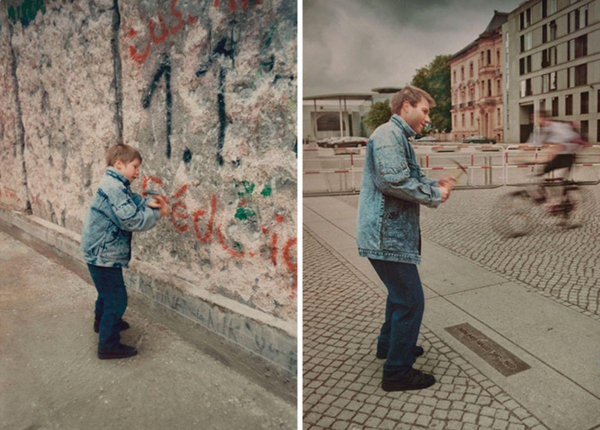 Ước mơ của cậu béChristopherthành hiện thực khiBức tường Berlinđã bị phá bỏ (Năm 1990 và năm 2011)