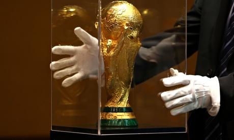 Cúp vàng vô địch thế giới được bảo quản cẩn thận