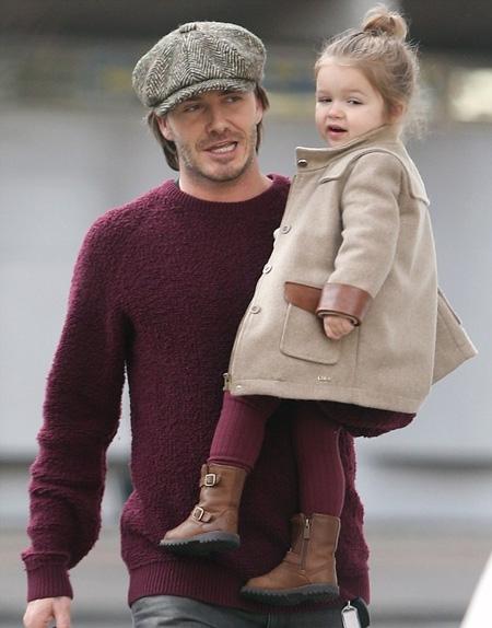 Beckham và con gái Harper