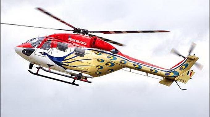 Máy bay trực thăng hạng nhẹ loại Dhruv của Không lực Ấn Độ.