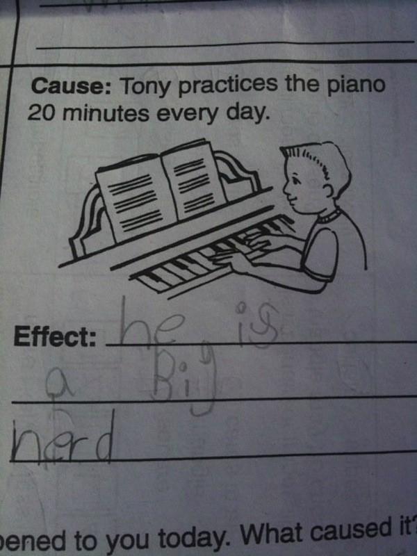 Căn nguyên: Tony tập chơi piano 20 phút mỗi ngày