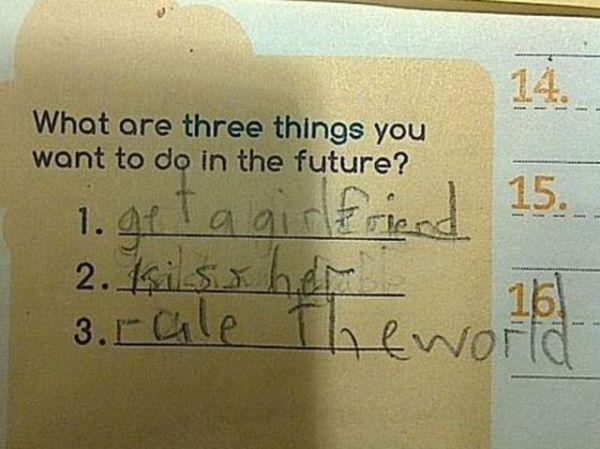 Ba điều mà em muốn trong tương lai?