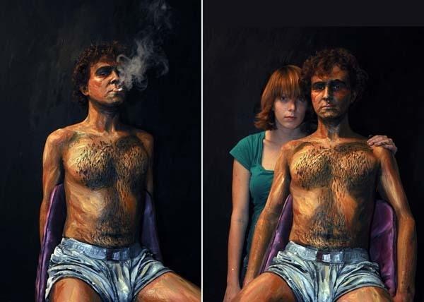 """Cùng ngắm hình ảnh người biến thành tranh siêu """"ảo diệu"""""""
