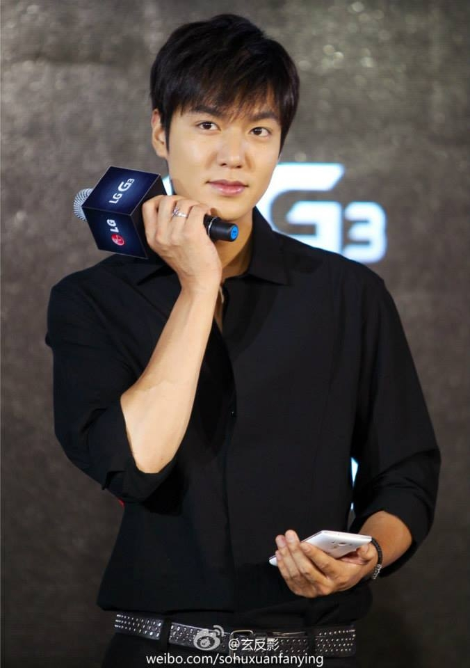 Lee Min Ho trong sự kiện ra mắt sản phẩm tại Bắc Kinh ngày 8/8 vừa qua