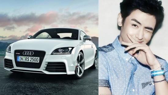 """""""Hoàng tử Thái""""- Nichkhun sở hữu một chiếc Audi TT với giá khoảng 41-44 triệu won (tương đương 40-43.000 USD)"""