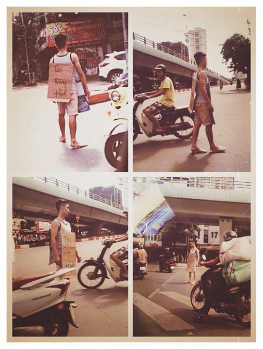 Xuất hiện 'người tàng hình' trên phố Hà Nội