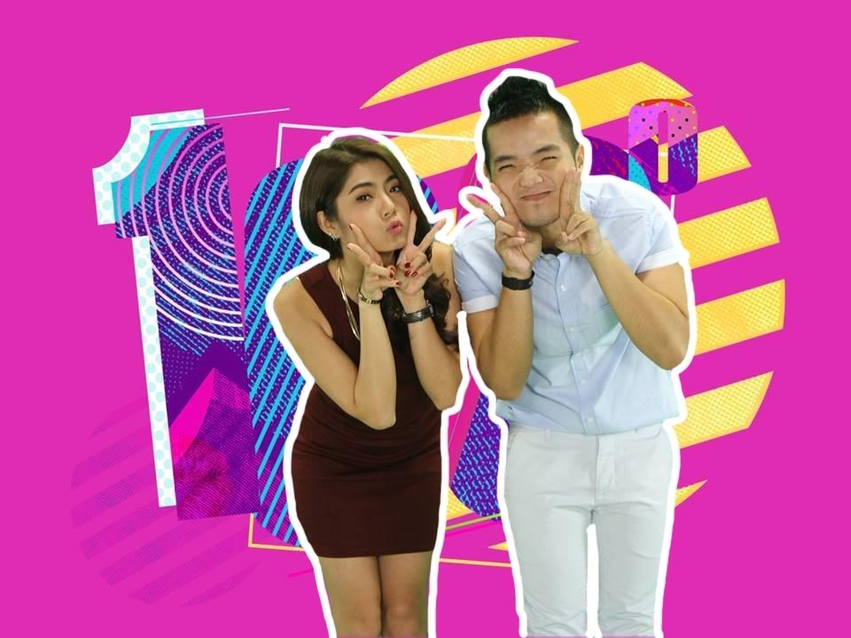 """Hồng Phước màu hồng kết hợp cùng Phương Linh """"chủ nhà"""" đường đua 100 Độ mang sắc tím. Những MV đậm chất tím hồng sẽ được cả hai giới thiệu trong chương trình tuần này."""