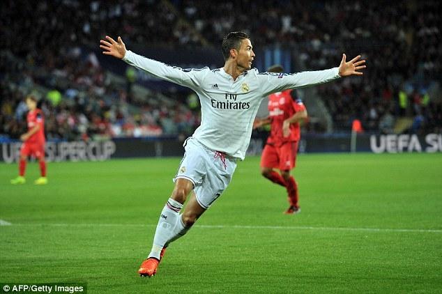 Ronaldo đã lập cú đúp ở trận tranh Siêu cúp châu Âu