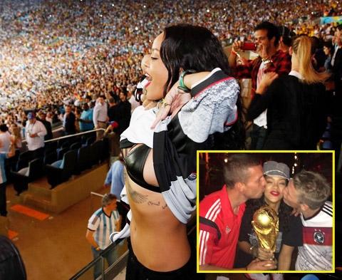 Rihanna chỉ là fan phong trào nhằm đánh bóng tên tuổi tại World Cup 2014