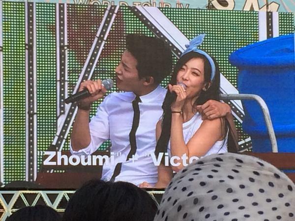 Victoria và Zhou Mi siêu dễ thương trong ca khúc Loving You