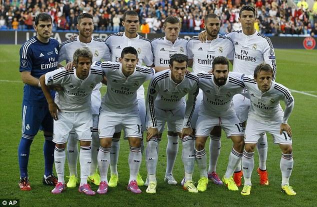 Real Madrid là đội bóng chi nhiều nhất để có được đội hình hiện tại