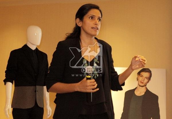 Bà Avni Pundir - giám đốc điều hành của tập đoàn Zalora, trình bày về ý tưởng cho ra đời nhãn hiệu riêng và đối tượng khách hàng mà Zalora sẽ phục vụ.