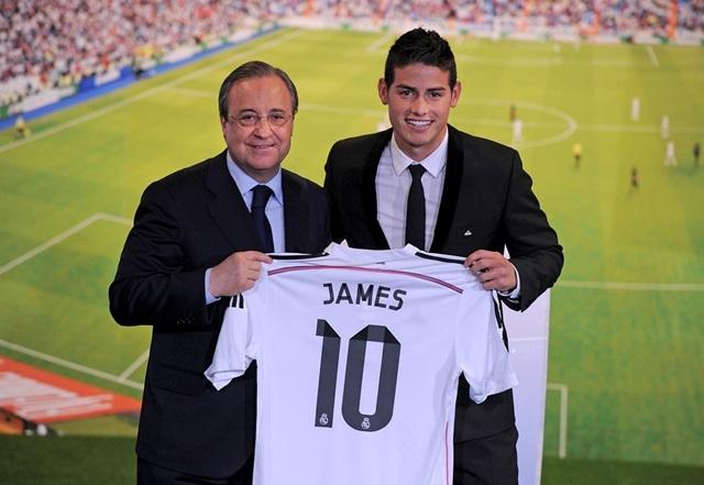 James Rodrigue gia nhập Real Madrid với giá 80 triệu euro
