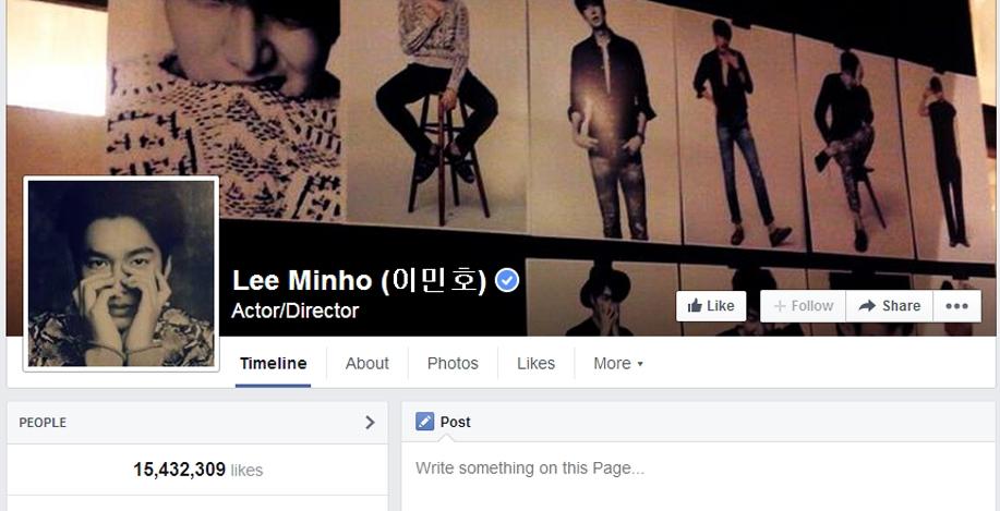 Có thể nói đây là lãnh địa củaLee Min Hokhi tên của anh đã đứng đầu danh sách những nghệ sỹ được theo dõi nhiều nhất với con số là 15.432.309 người.