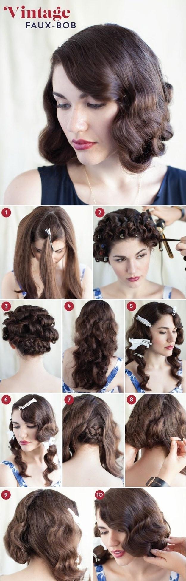 Những kiểu tóc mang phong cách vintage cực quyến rũ