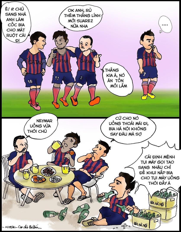 Công dụng ngoài sân cỏ của Suarez