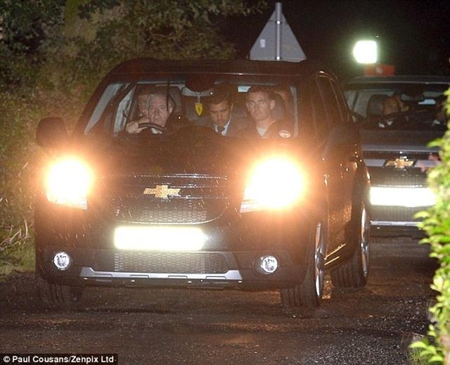 Di Maria tới khu tập luyện Carrington của Man United vào đêm hôm thứ Hai