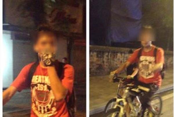 M.S phát hiện nam thanh niên thuộc nhóm xe đạp địa hình và muốn cộng đồng giúp cô nàng truy lùng thông tin. Ảnh chụp màn hình.