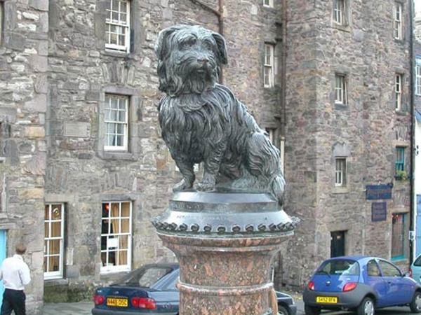 Tượng đài của Greyfriars Bobby được dựng lên ở Edinburgh, Anh