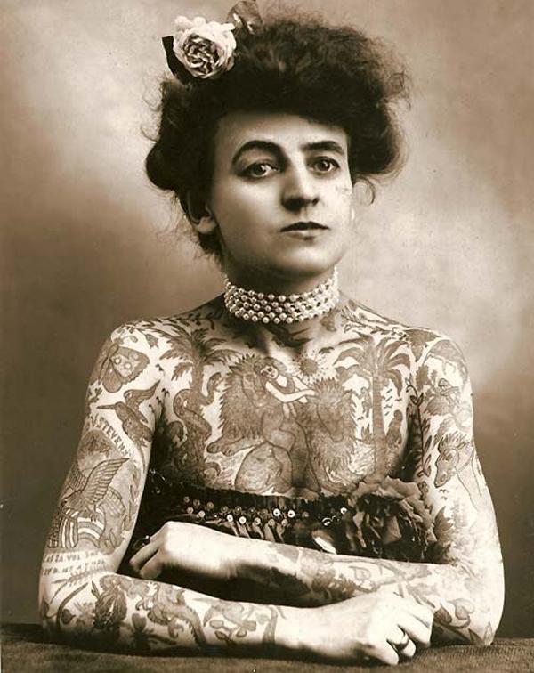 Maud Wagner là một trong những huyền thoại của phong trào nữ giới xăm mình.