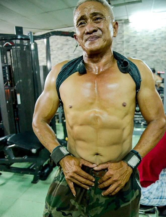 Bác Vân khẳng định sẽ không bao giờ ngừng tập gym vì bất cứ lý do gì.