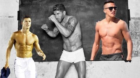 Từ trái qua: Ronaldo - Ramos - Sanchez