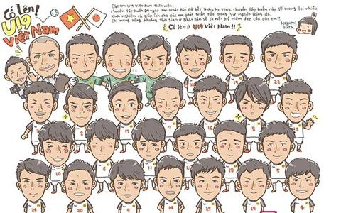 Bức tranh Megumi Hana vẽ tặng U19 Việt Nam