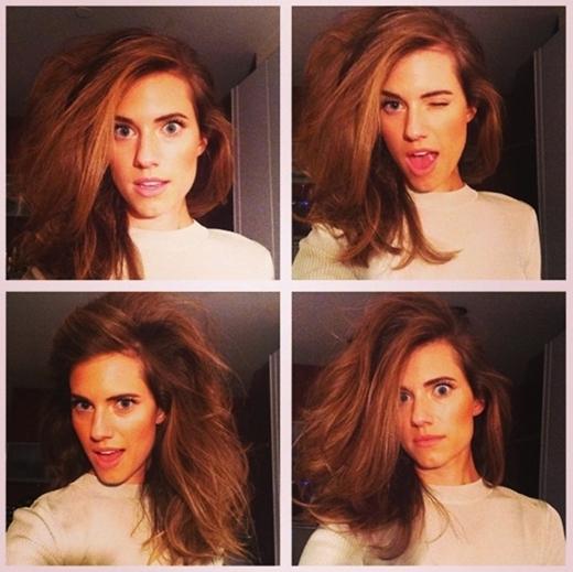 Allison Williams đã có một thí nghiệm nhỏ với mái tóc của mình. Ngoài ra, cô còn thể hiện những biểu cảm vô cùng đáng yêu.