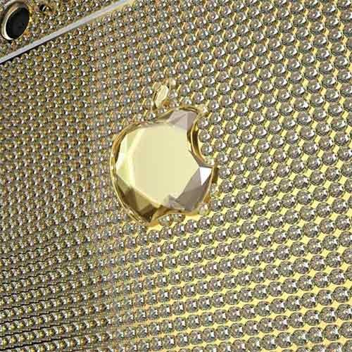 Logo trái táo gắn viên kim cương 51,29 carat
