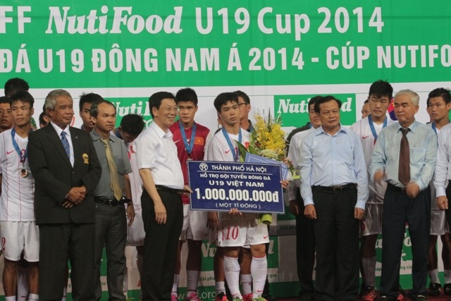 UBND TP Hà Nội tặng thưởng U19 Việt Nam 1 tỷ đồng