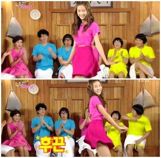 Kim Sae Ron nhảy cực đáng yêu