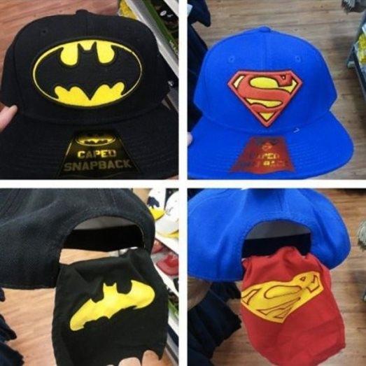 Người hâm mộ của Superman và Batman chắc chắn sẽ thích chiếc nón này